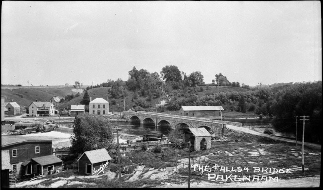Falls and Bridge at Pakenham a055802-v8 Archives Canada.jpg