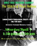 Who was Mother Barnes? Find Out About the Witch of Plum Hollow April 7