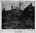 More Clippings Found About the 1910 Carleton Place Fire