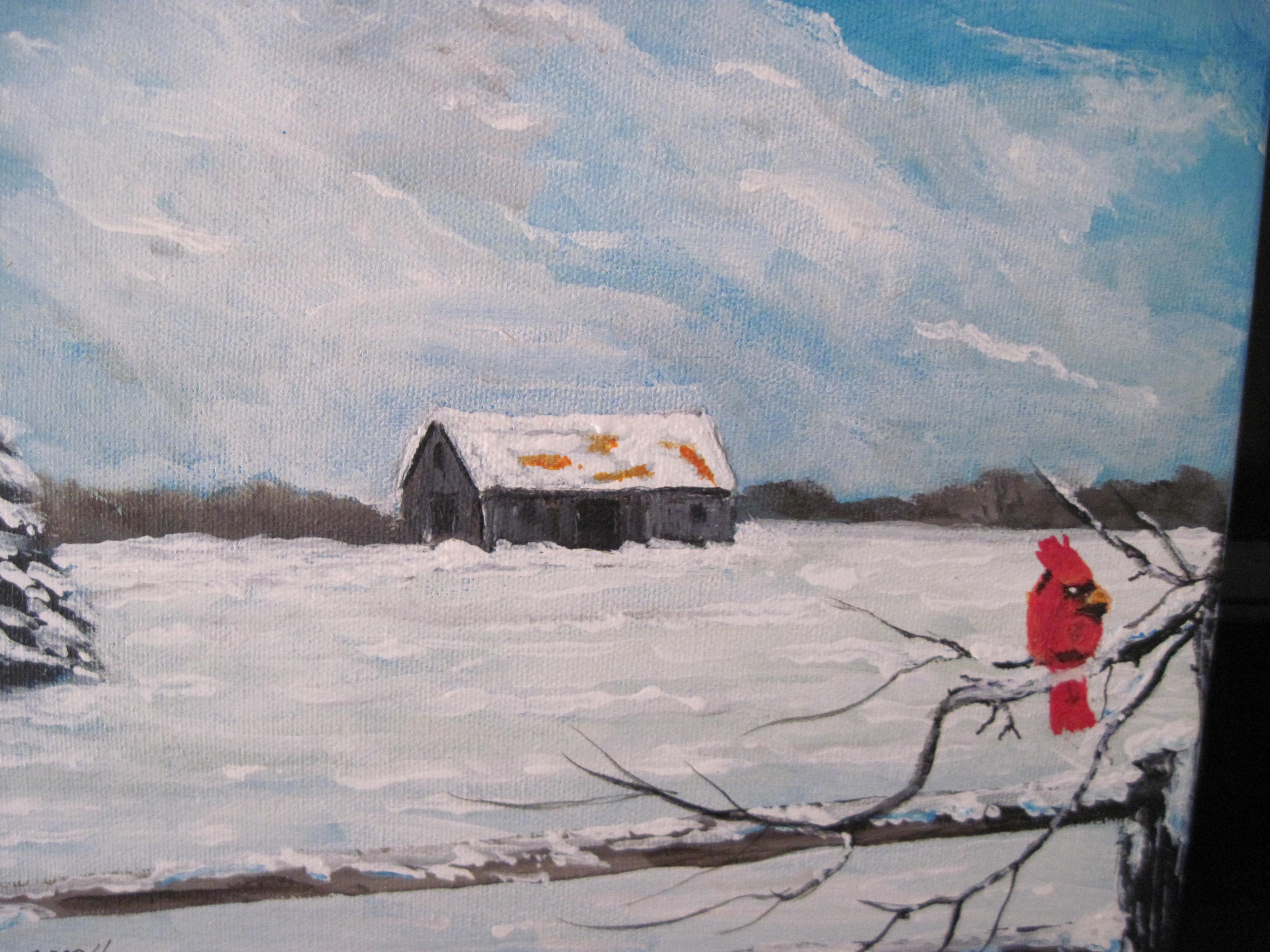IMG_6752 - Blaine's winter scene with cardinal - 2