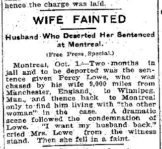 UK to Canada Genealogy: British Man deserts wife in Canada 1913