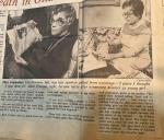 Sue Hanna- Lila Graham and Ruth Fresque – 1942 Train Disaster- Buchanan ScrapbookClippings